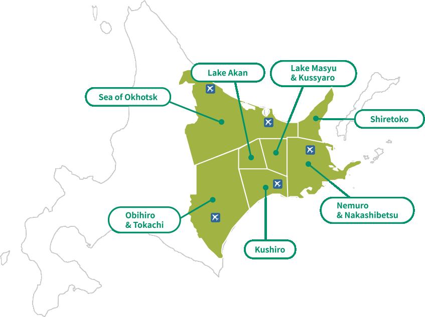 Map of East Hokkaido