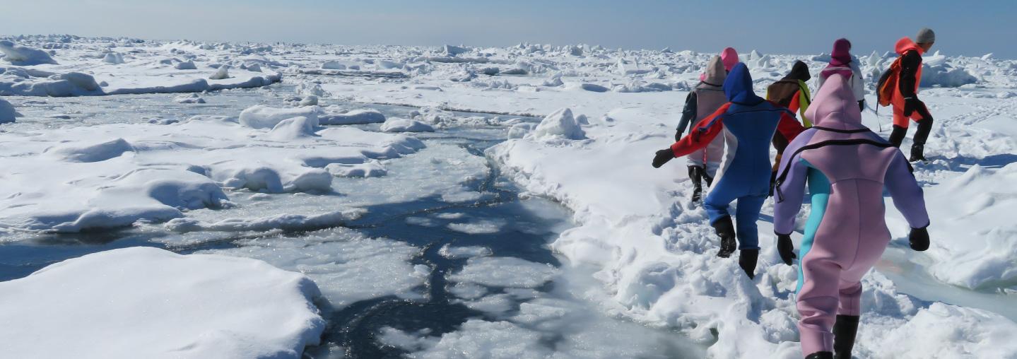 Drift Ice Walk at Shiretoko