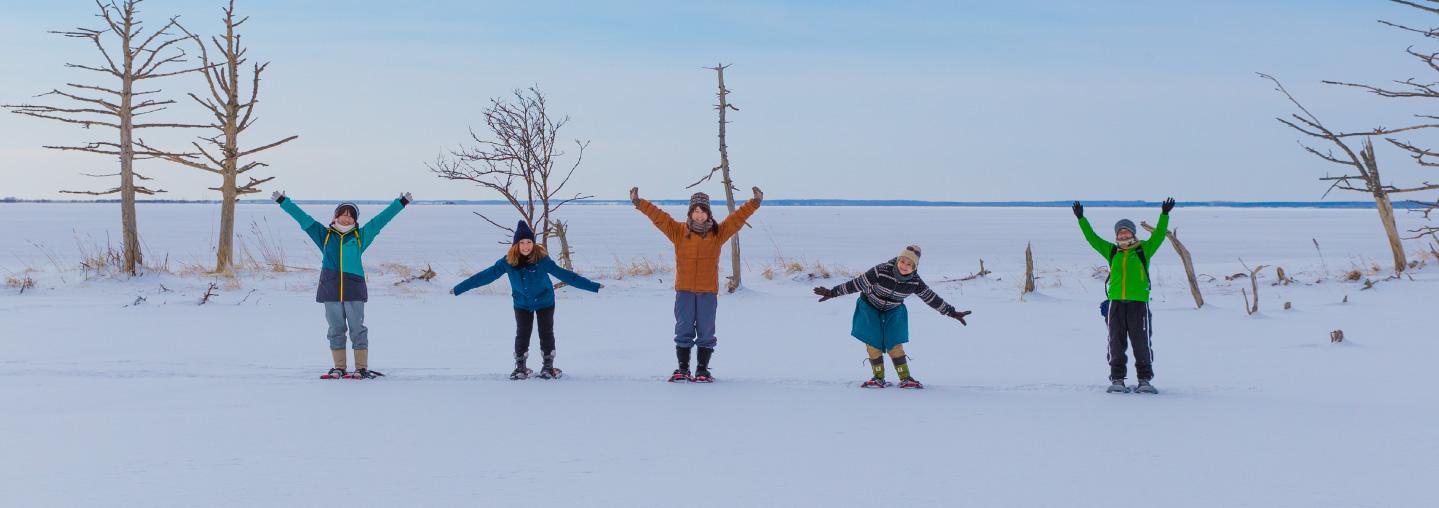 Ice flat field Walk at Odaito