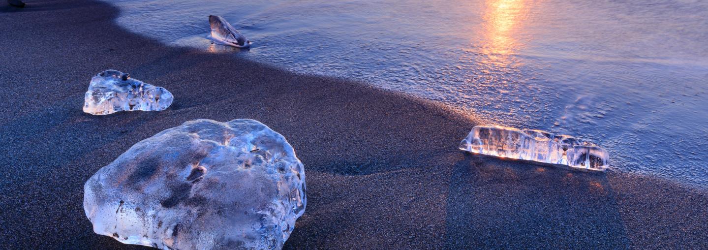 Jewelry Ice at Tokachi Otsu Coast