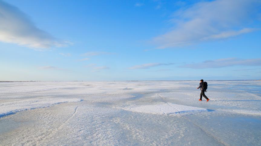別海 氷平線