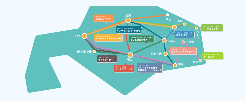 ひがし北海道を走る都市間バス 釧路・阿寒湖・知床ウトロ・網走etc