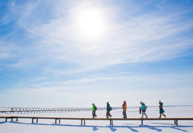 野付半島氷平線ツアー