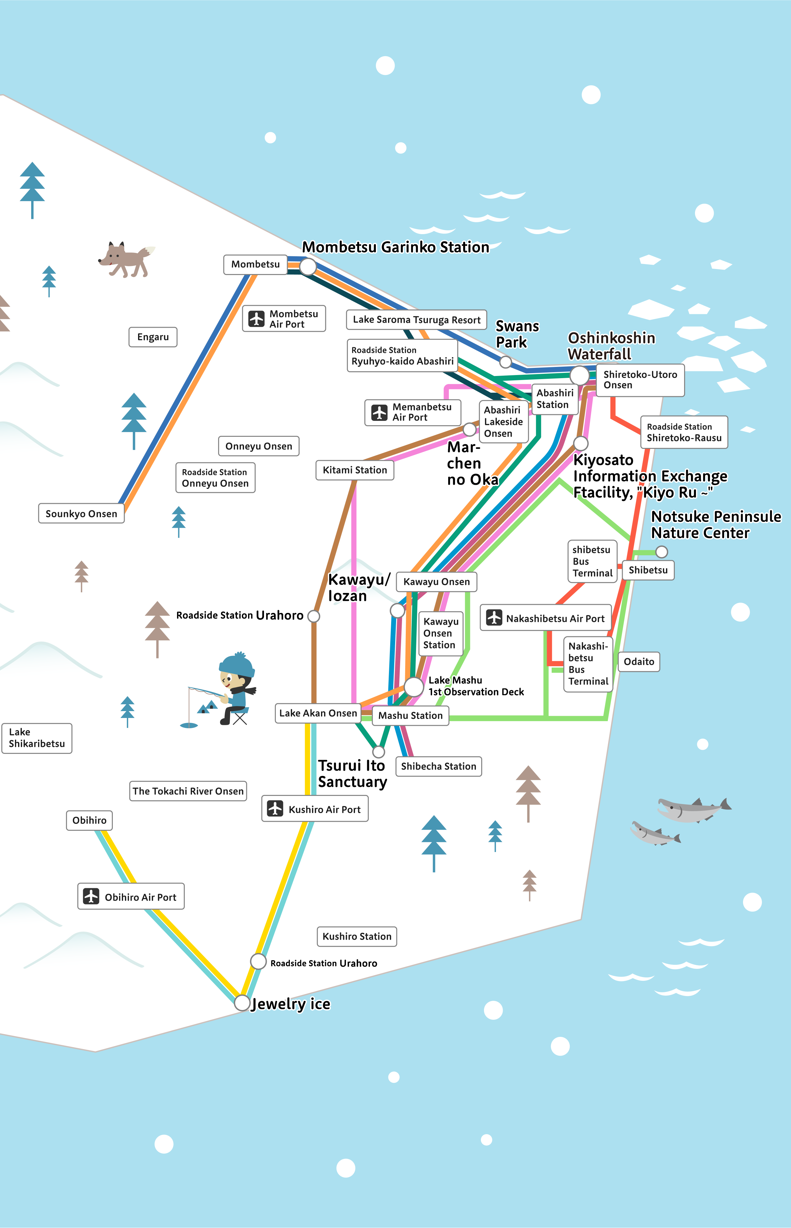 Unlimited pass A route map