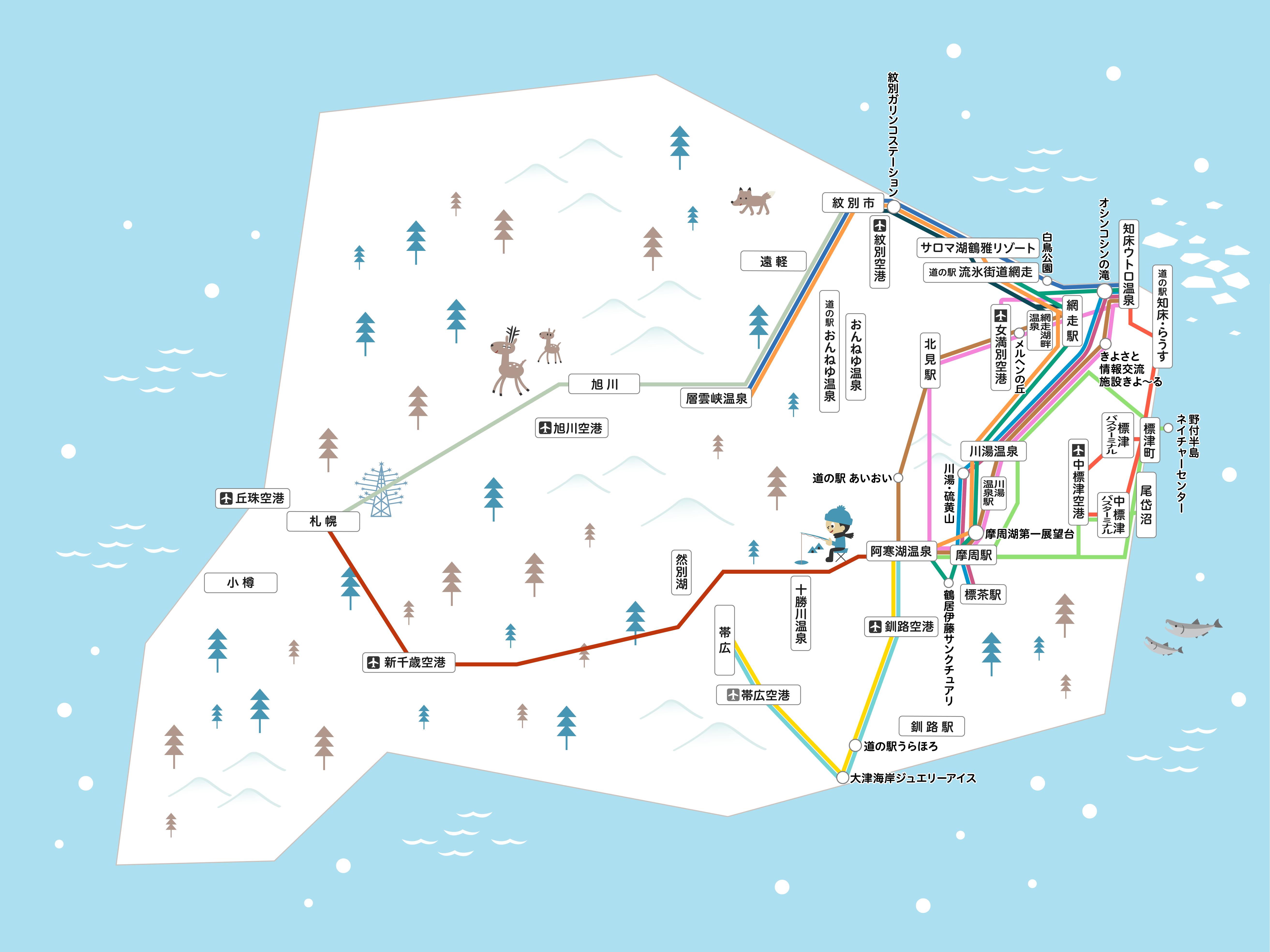 乗り放題パスB 路線図