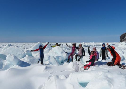流氷ウォーク体験