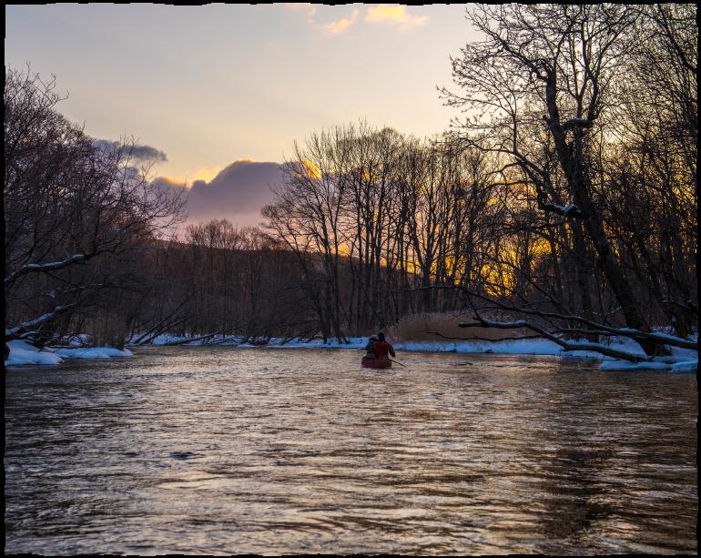 感動の「真冬」の川くだり 釧路川源流カヌー