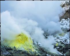 大地のパワーを感じる、硫黄山