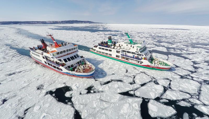 【ひがし北海道ネイチャーパス】網走観光砕氷船プラン