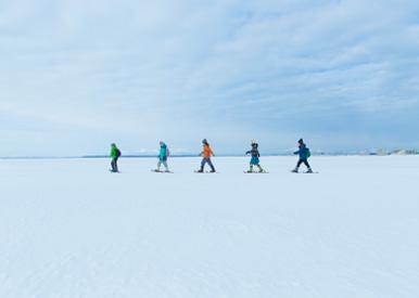 野付半島|氷平線