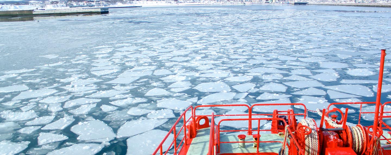 HACチャーター便旅行プラン 紋別の流氷