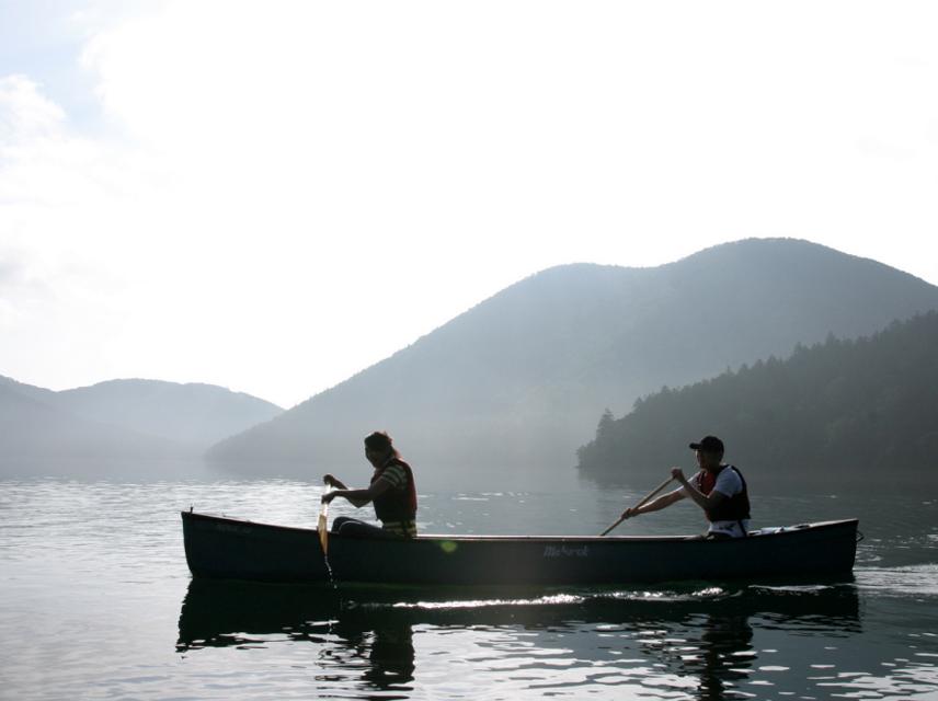 Lake shikaribetsu of summer