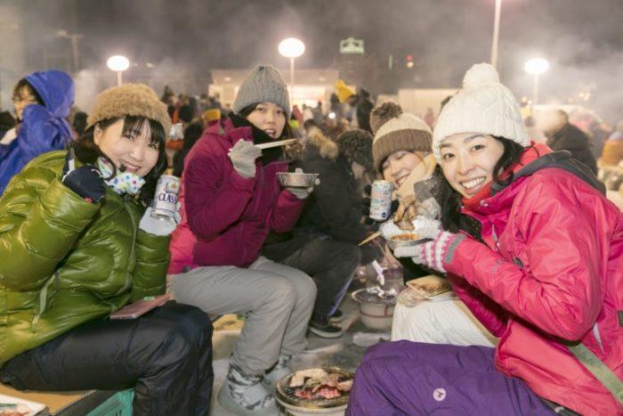 【特別企画】極寒の野外で焼肉!?北見厳寒の焼き肉まつり&網走流氷船&観光列車もりだくさんバスツアー2日間