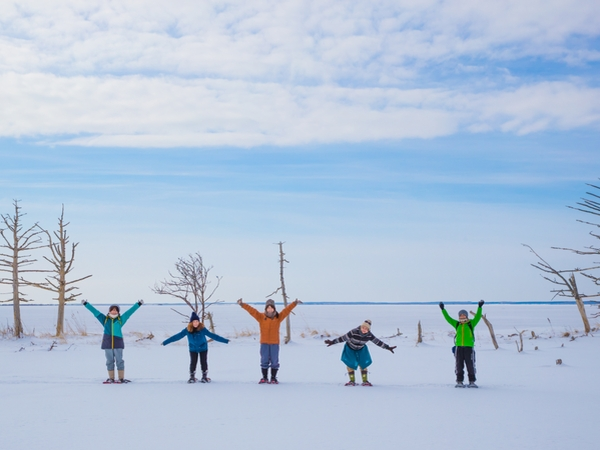 【日帰りプラン】ひがし北海道エクスプレスバスで行く!まるで日本のウユニ塩湖!野付半島「氷平線」ウォークパック(阿寒発ウトロ着)