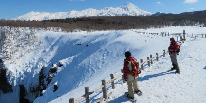 【知床】フレペの滝スノーシューハイキング