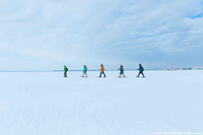 野付半島に広がる氷の大地 ー べつかい氷平線