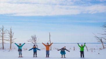 まるで日本のウユニ塩湖!野付半島「氷平線」ウォークパック【体験&バスパック】